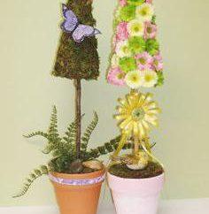 Topiaire de fleurs artificielles. Topiaire: Master Class
