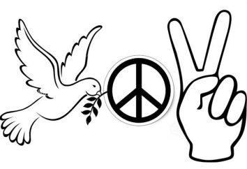 symbole pokoju. Dove jako symbol pokoju