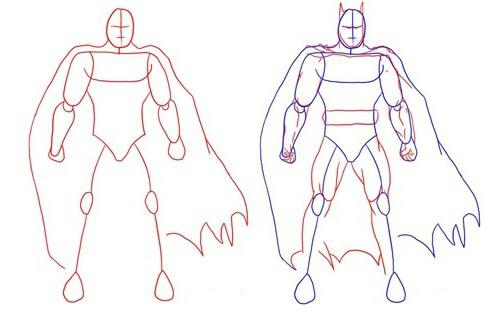 Come disegnare batman bella - Dessiner batman ...