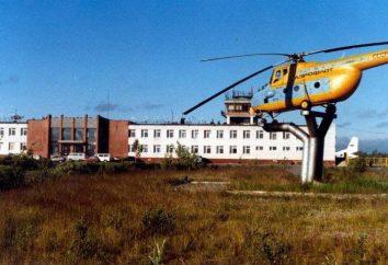 Usinsk. um pequeno aeroporto da cidade no norte do país