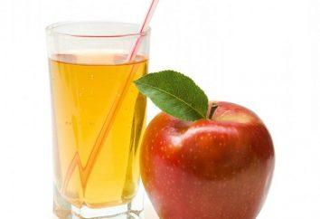 O suco no suco das maçãs é uma bebida saborosa para o inverno