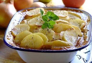 caçarola simples de batatas e abobrinha