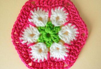 """gancho Amazing """"africano de la flor"""" (con una descripción de la artesanía)"""