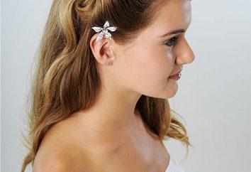 Piękne fryzury Spinki własnymi rękami