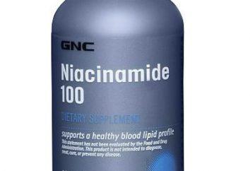 """Vitamin """"Nicotinamid"""" – es ist ein Nahrungsergänzungsmittel und Medizin. Alle Merkmale der Verwendung dieses Stoffes für therapeutische und prophylaktische Zwecke"""