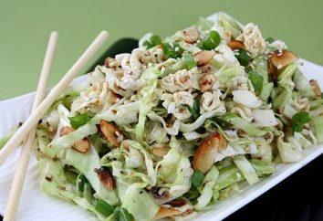 """Sałatka """"Peking"""" z kijami kukurydza, kurczak, krabów. Przepisy ze zdjęciami"""
