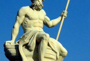 Najstarszych i majestatyczny boga Neptuna, elementy morskie patron