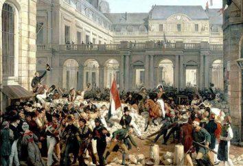 La rivoluzione di luglio e la Rivoluzione francese del 1830: descrizione, la storia e le conseguenze