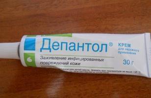 """""""Depantol"""" (pomata): istruzioni per l'uso. Elaborazione di ferite post-operatorie che utilizzano la crema """"Depantol"""""""