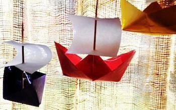 origami navio: os diferentes métodos de fazer