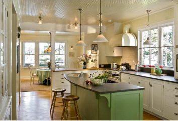 Séjour-cuisine: la planification, des règles, des lignes directrices, design d'intérieur