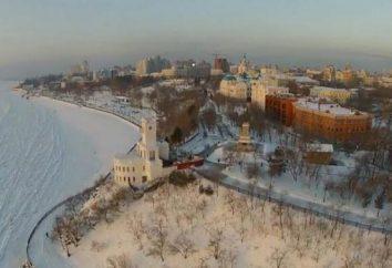 En qué río es digno de Jabárovsk? Khabarovsk, río Amur