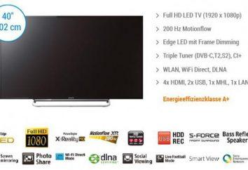 TV Sony KDL-40W605B: Bewertungen. Anleitung, Preise, Fotos