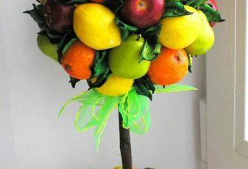 Fruit Topiary próprias mãos: uma master class. Topiary em 8 de Março