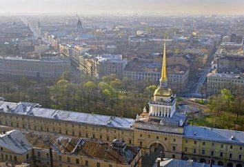 construção Admiralty, St. Petersburg: história, descrição