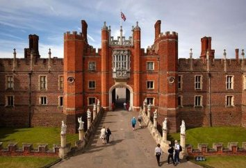 Hampton Court (Hampton Court). L'ensemble du palais et du parc à Londres