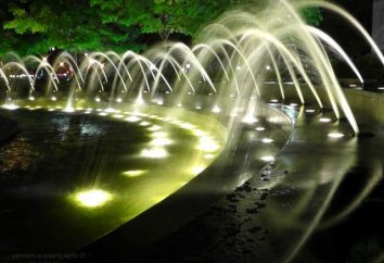 fontaines rétro-éclairage – spectacle fascinant