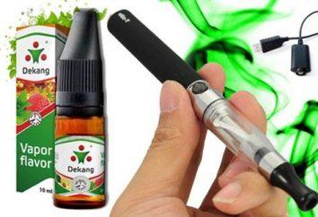 Płyn do elektronicznych papierosów Dekang: Skład i opinie