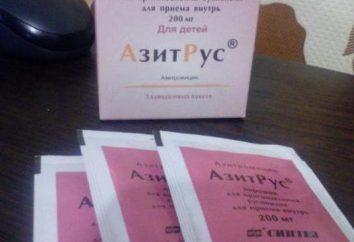 """instrukcje """"Azitrus"""" Dzieci użytkowania (proszek), opis i opinie"""