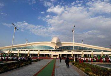 """Ashgabat – Aeroporto chamado Saparmurat Turkmenbashi. """"Turkmenistan Airlines"""""""