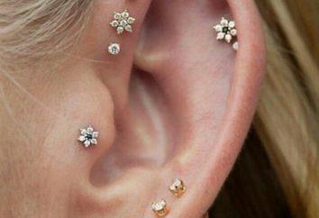 Jak jest przekłuwanie uszu: chrząstka jest kontuzjowany, czy nie?
