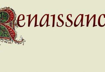 Da arte e da cultura do Renaissance. figuras proeminentes da Renascença: a lista