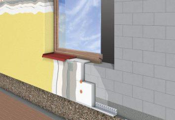 Aislamiento de la casa fuera en forma de barra: la tecnología, los materiales