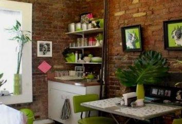 La acogedora casa y las paredes de la cocina añaden alegría!