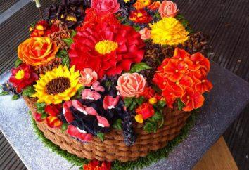 """Tort """"Bukiet kwiatów"""": klasa mistrz, zdjęcie"""