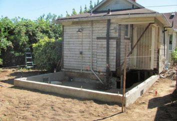Como hacer una base para una extensión de la casa con sus propias manos?