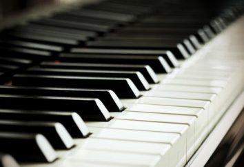 O que é diferente do piano de piano e piano
