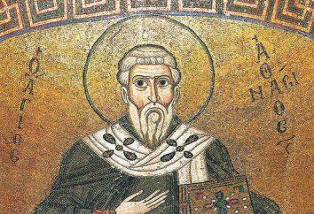 Sancré Athanase le Grand d'Alexandrie: biographie, histoire et bibliographie