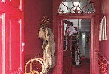 papel de parede vermelho nas instalações interiores