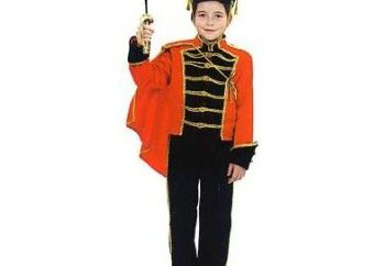 Hussar kostium dla chłopca z rękami