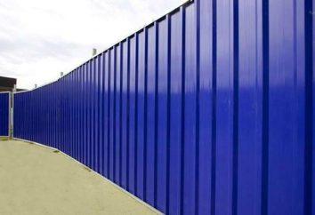 Una valla de cartón ondulado: la instalación y la elección de los materiales