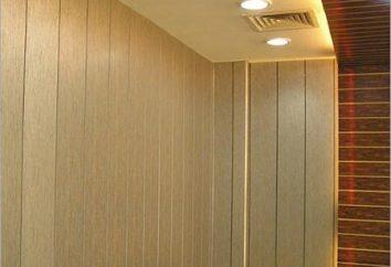 Instalação de painéis de parede de PVC com as mãos. reparação econômica