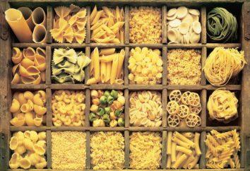 Arten von Nudeln. Welche Arten von Pasta?