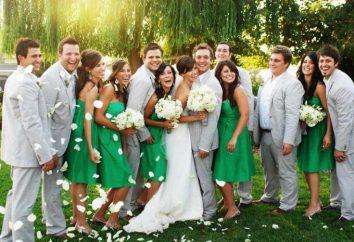 Ślub w szmaragdowej kolorystyce: dekoracja hallu, wizerunki młodej pary