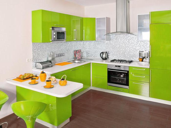 """Küche Farben """"lime"""": die Idee einer saftigen Innen"""
