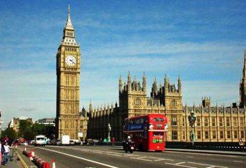 Del Reino Unido. Del Reino de Gran Bretaña: mapa