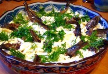 Salade « Le poisson dans l'étang »: savoureux, bon marché et original