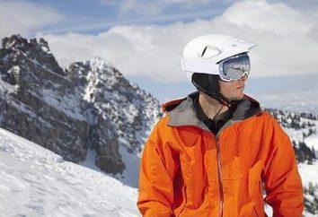casques de snowboard: vue d'ensemble, description, taille