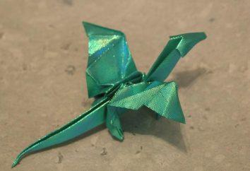 Origami arte – drago fatto di carta
