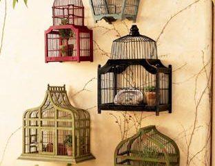 Gaiolas como um elemento decorativo do interior