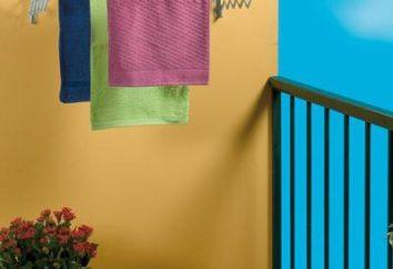 secadora en la pared del balcón: dignidad, especialmente la selección y aplicación
