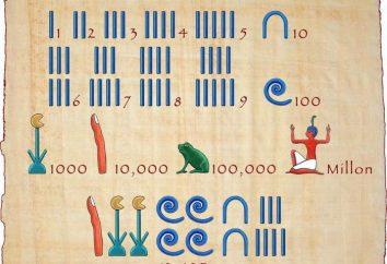 Cyfry egipskie. Historia, opis, zalety i wady, przykłady starożytnego egipskiego systemu liczbowego