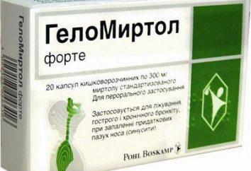 """Le médicament """"Gelomirtol forte"""". instruction"""