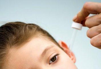 Gotas para los oídos para el tratamiento de la otitis