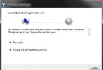 ¿Y si hubiera un error 711 cuando se conecta a Internet