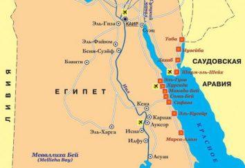 La zone de l'Egypte. Egypte sur la carte du monde